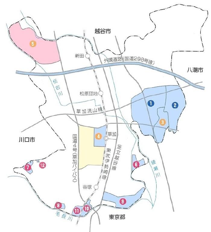 区画整理事業の実績地図 【草加市の実績】 地区名 施行者 面積 草加市 土地区画整理事業の仕組み